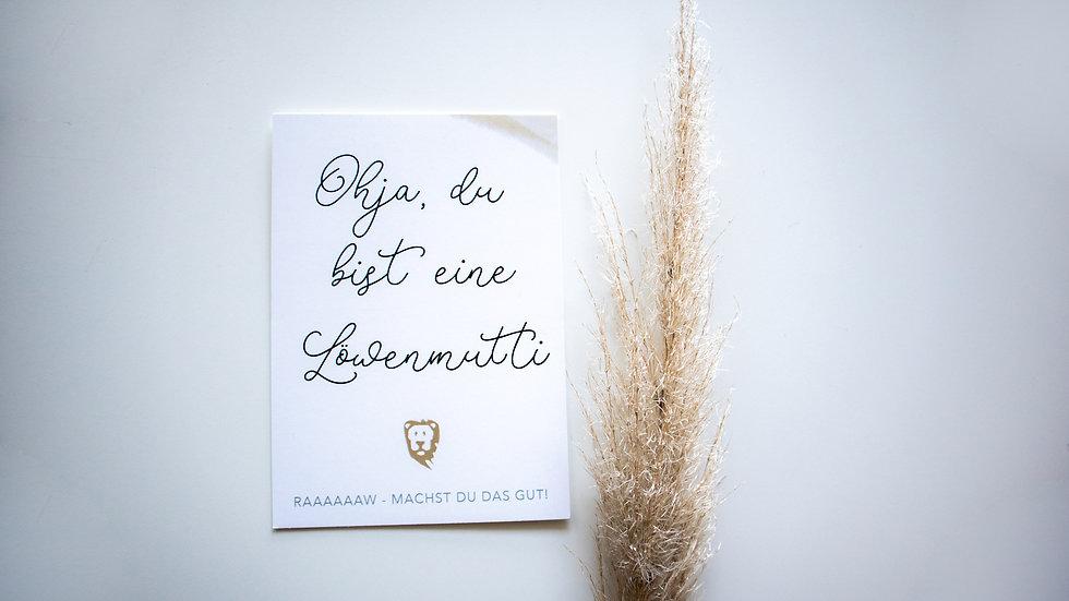 """Postkarte """"Löwenmutti"""""""