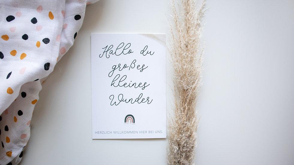 "Postkarte""großes kleines Wunder"""