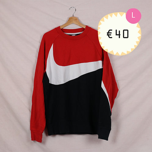 Nike Red and Black Crewneck