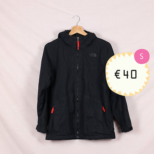 North Face Black Jacket with Red Zips