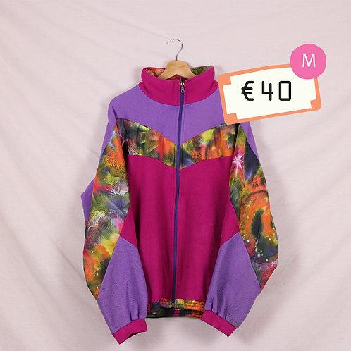 Purple Pink and Galaxy Funky Fleece