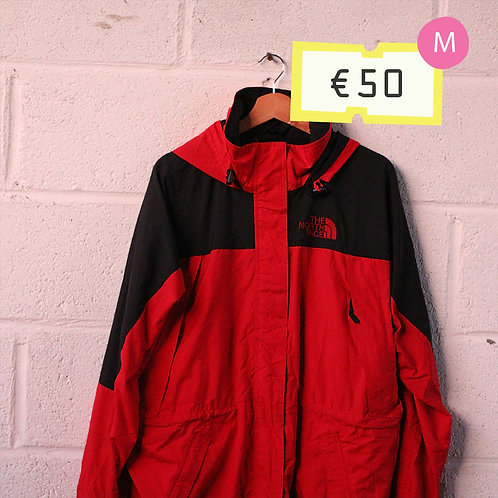 North Face Red and Black Jacket