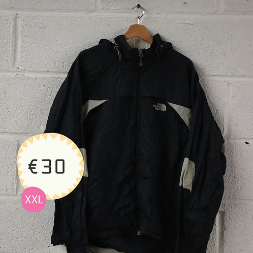 North Face Black and White Waterproof Jacket
