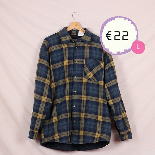 Blue and Yellow Flannel Shirt