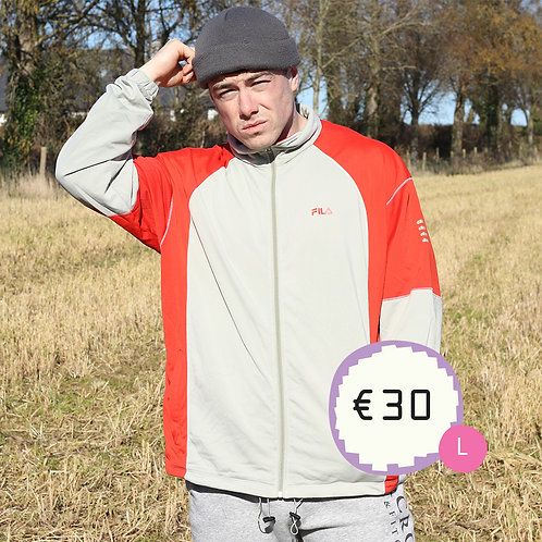 Fila Red and Grey TrackTop