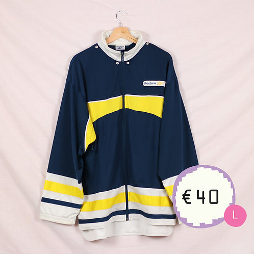 Reebok Yellow and Navy Track Top