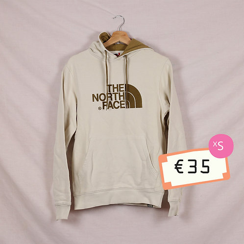 North Face Cream and Brown Hoodie