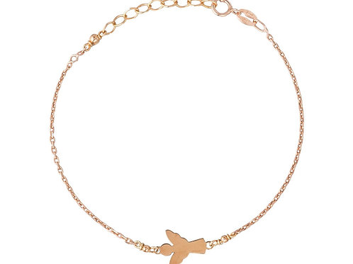 Gliederkette Armband Schutzengel, gold vergoldet