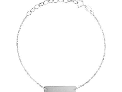 Gliederkette Armband Rechteck, silber