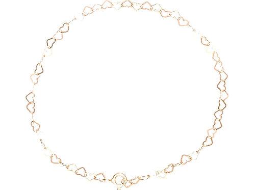 Armband 10000 Herzen, gold vergoldet
