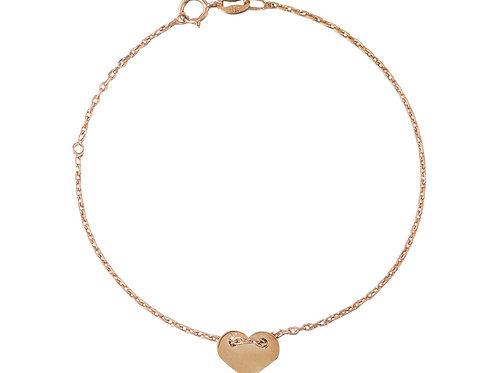 Kopie von Gliederkette Armband Herz, goldvergoldet