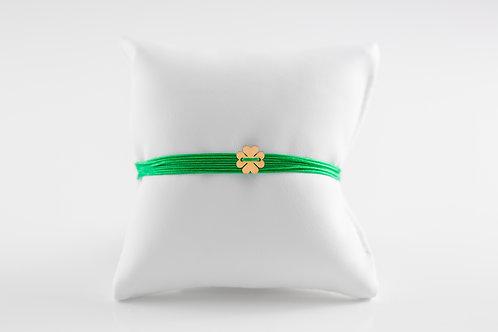 Multiwrap Stoffband grün,  Kleeblatt