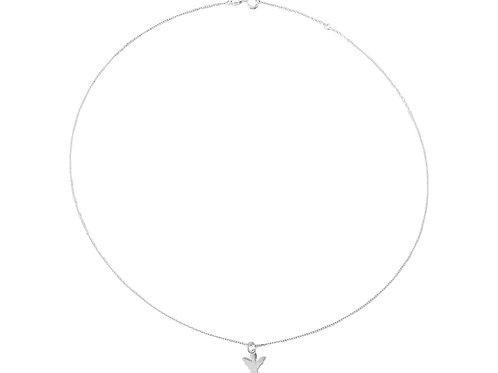 Halskette kurz, Schutzengel silber
