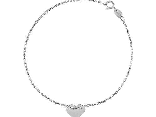 Gliederkette Armband Herz, silber