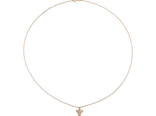 Halskette kurz, Schutzengel goldvergoldet