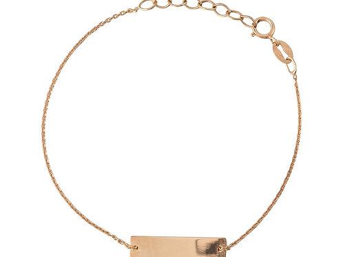 Gliederkette Armband Rechteck, goldvergoldet