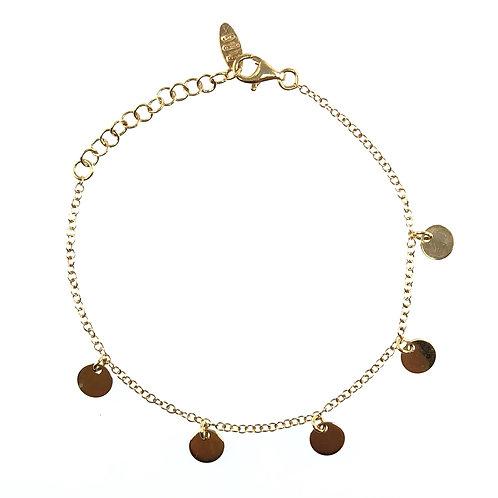 Armband Gliederkette piatto d'oro