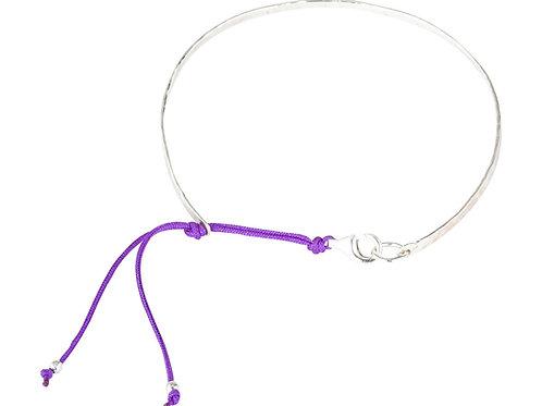 Capri, Armreif silber/violett