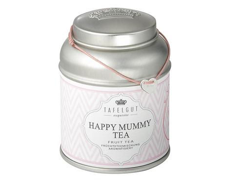 "Happy Mummy Tea /  Herz silber ""Mum"" graviert  Stoffband altrosa"