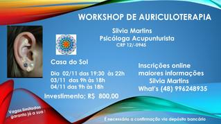 WORKSHOP DE ARICULOTERAPIA com Silvia Martins - ADIADO PARA 7 A 12 DE DEZEMBRO