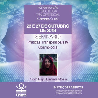 Seminário Práticas Transpessoais IV - Cosmologia, com Dani Rossi