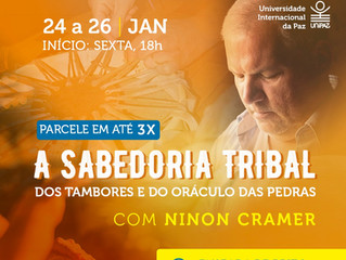 A Sabedoria Tribal dos Tambores e do Oráculo das Pedras com Ninon Cramer