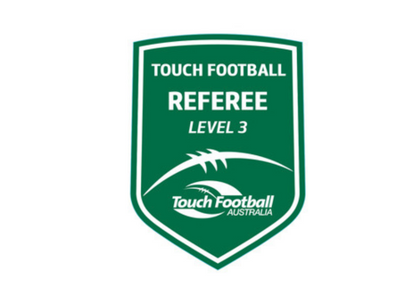 Level 3 Referee Course - QLD Touch Football, 03/07/2021