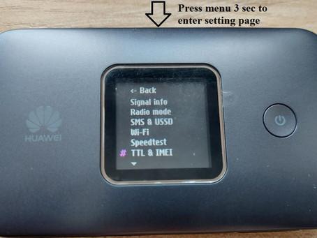 Huawei E5785 On Screen Setting