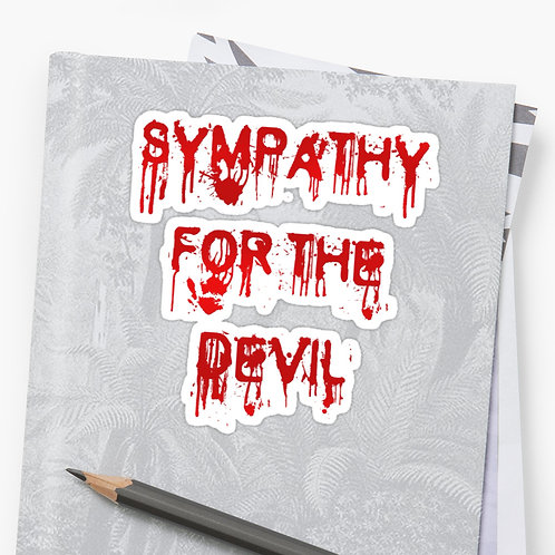 Sympathy For The Devil - Sticker