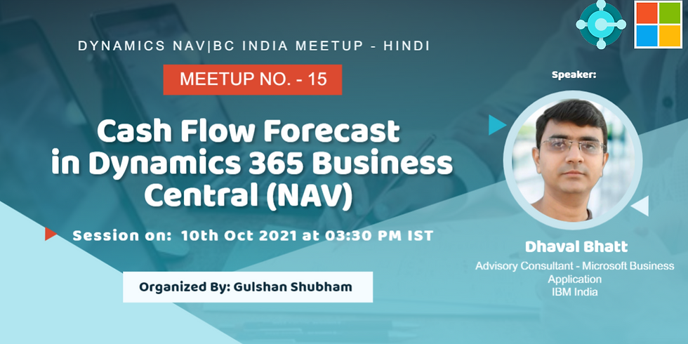 Cash Flow Forecast in Dynamics 365 Business Central (NAV).