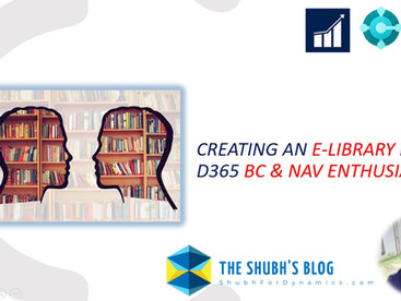 Building an E-Library for learning D365 Business Central and NAV