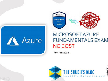 Take Microsoft Azure Fundamentals Certification Exam (AZ-900) at no Cost | Jan 2021.