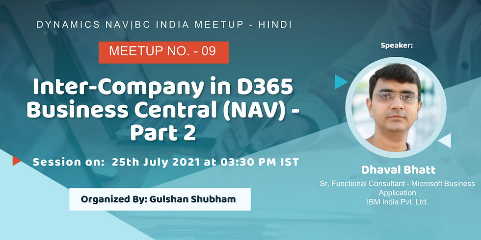 Inter-Company in D365 Business Central (NAV) - Part 2