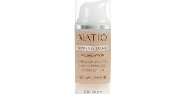 Natio Invisible Blend Foundation - Medium Coverage - TAN