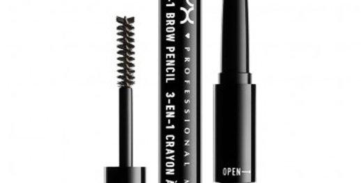 NYX 3-in-1 Brow Pencil, Powder & Mascara - 03 Soft Brown