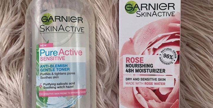 Garnier Duo - Skin Active Toner & Moisturizer