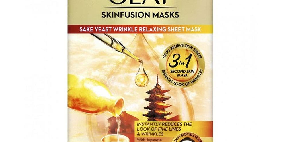 Olay Skinfusion Mask - Sake Yeast Relaxing Sheet Mask