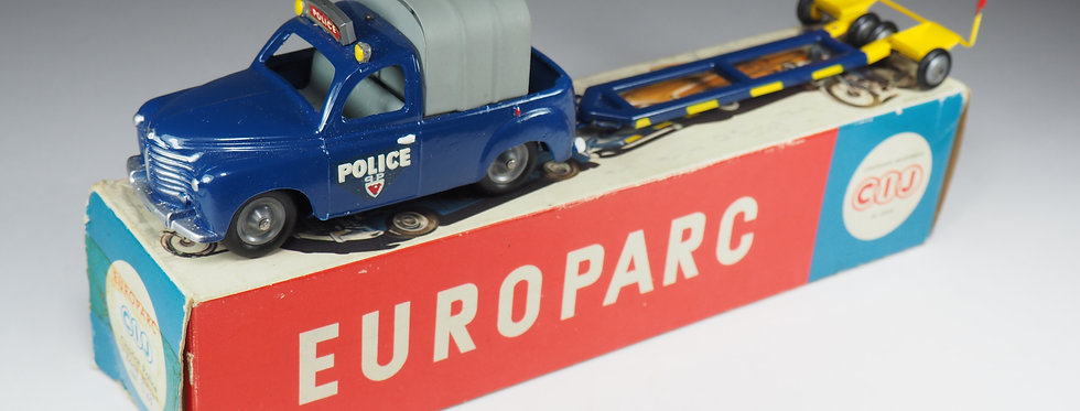"""CIJ EUROPARC - 3/65 - RENAULT COLORALE CHARIOT POLICE """"ZONE BLEU"""" - 1/43"""