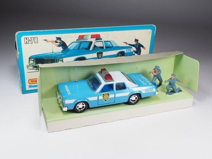 MATCHBOX SUPER KINGS - K78 - PLYMOUTH FURY GF POLICE