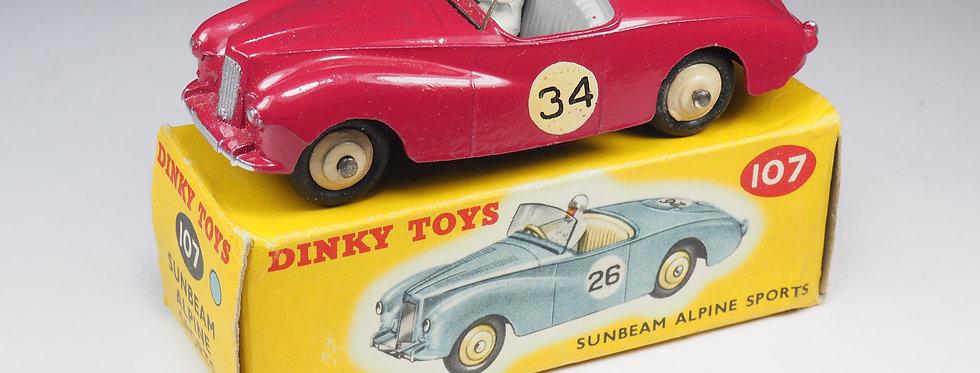 DINKY TOYS ENGLAND  - 107 - SUNBEAM ALPINE SPORTS
