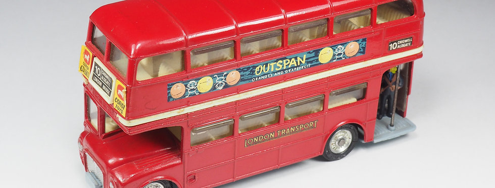 "CORGI - 468 - London Transport Routemaster Bus ""Outspan"" - Clear Stairs"