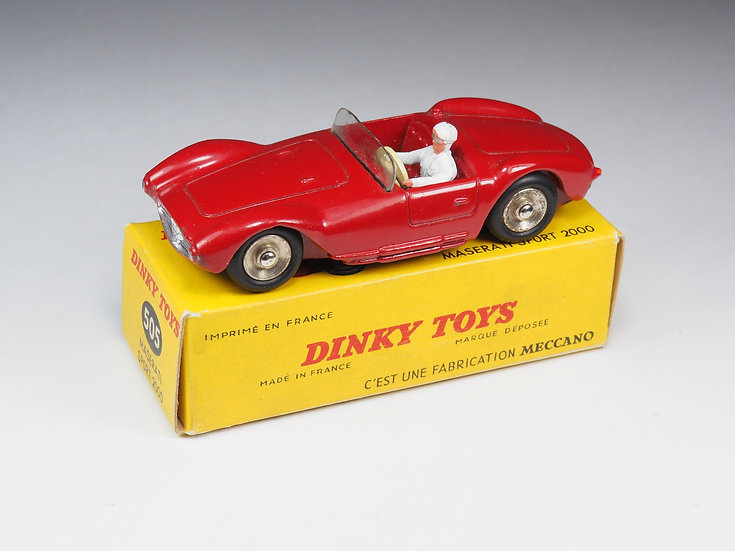 DINKY TOYS FRANCE - 505 - MASERATI SPORT 2000 - JANTES CONCAVES
