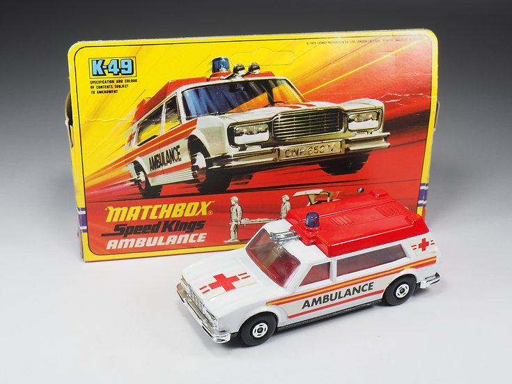 MATCHBOX SPEED KINGS - K49 - AMBULANCE
