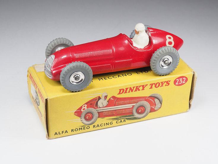 DINKY TOYS ENGLAND - 232 - ALFA ROMEO RACING CAR - CHROME SPUN HUBS