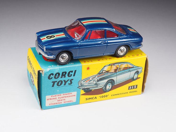 CORGI - 315 - SIMCA 1000 COMPETITION