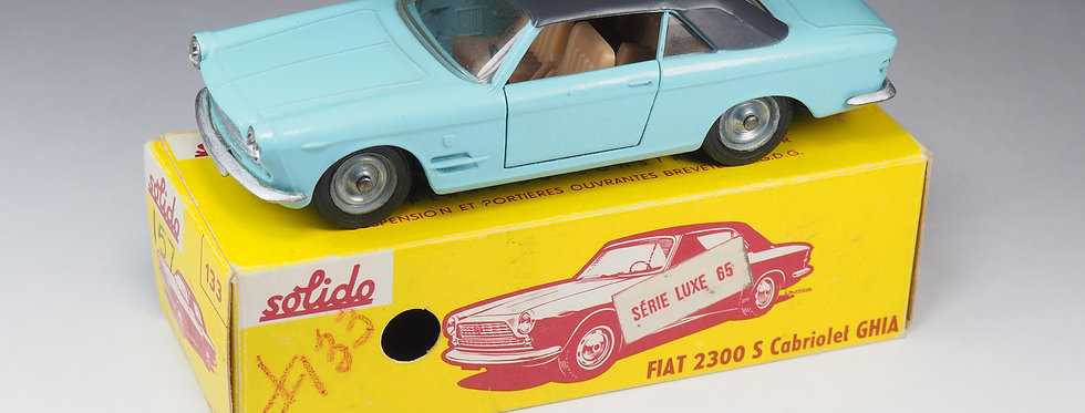 SOLIDO - 133 - FIAT 2300 S CABRIOLET - SERIE LUXE - 1/43e