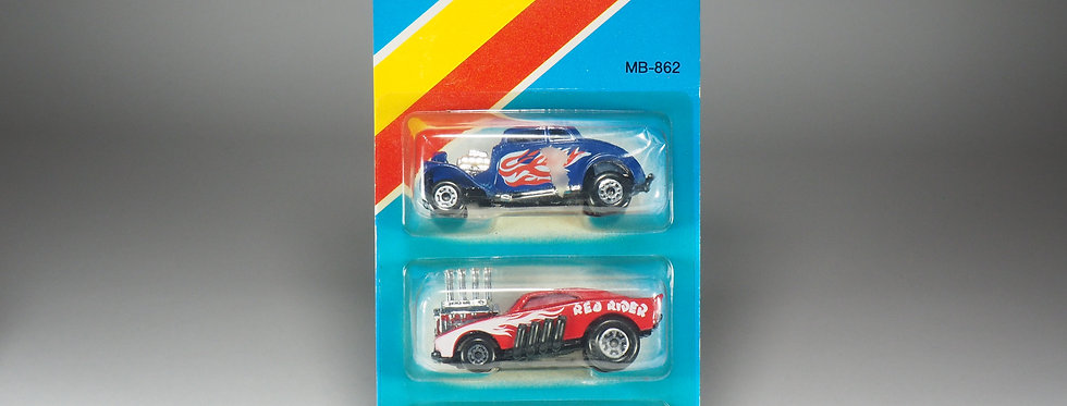 MATCHBOX - MB-862 - Trio Jeep 4x4 / Red Rider / 33 Willy Street rod - Blister