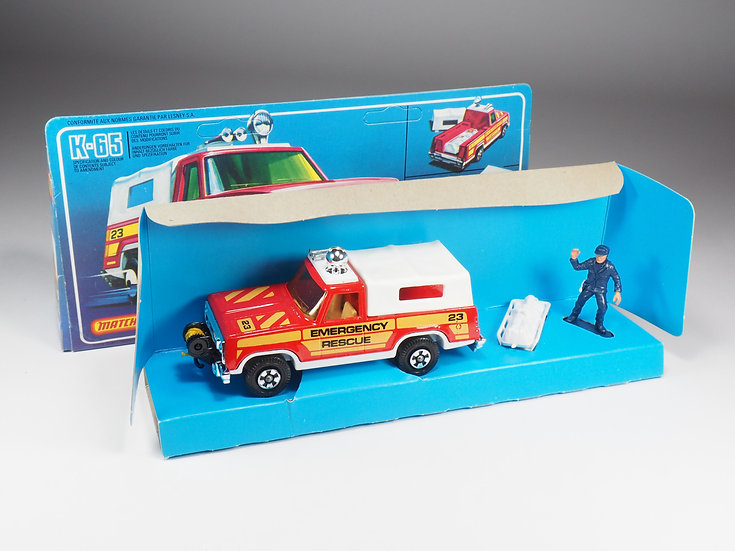 MATCHBOX SUPER KINGS - K65 - PLYMOUTH EMERGENCY RESCUE