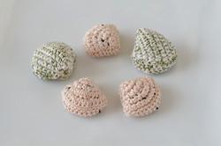 編みぐるみ 貝の干菓子