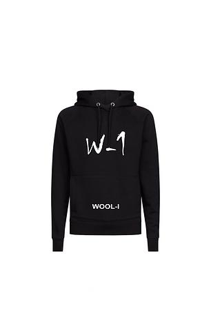 WOOL-I X W-1 black hoodie